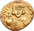 Ancients:Byzantine, Ancients: Justinian II, first reign (AD 685-695). AV solidus (20mm,4.14 gm, 6h). ...