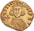 Ancients:Byzantine, Ancients: Justinian II, first reign (AD 685-695). AV solidus (20mm,4.13 gm, 6h). ...