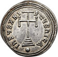 Ancients:Byzantine, Ancients: Leo VI the Wise (AD 886-912). AR miliaresion (24mm, 2.38gm, 12h)....