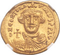 Ancients:Byzantine, Ancients: Constans II Pogonatus (AD 641-668). AV solidus (21mm,4.44 gm, 6h)....