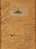 "Movie/TV Memorabilia:Autographs and Signed Items, A Cast Signed Script Cover from ""David Copperfield.""..."