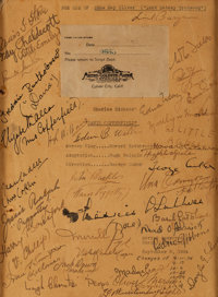 """A Cast Signed Script Cover from """"David Copperfield."""""""