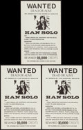 """Movie Posters:Science Fiction, Star Wars Wanted Posters (1970s). Unlicensed Posters (3) (11"""" X17.5""""). Science Fiction.. ... (Total: 3 Items)"""