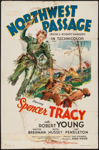 "Northwest Passage (MGM, 1940). One Sheet (27"" X 41"") Style C. Action"