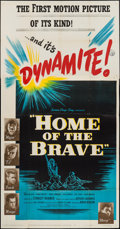 "Movie Posters:War, Home of the Brave (United Artists, 1949). Three Sheet (41"" X 78"").War.. ..."
