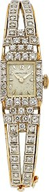 HAMILTON DIAMOND, GOLD WRISTWATCH