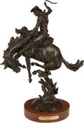 Bronze:American, GRANT SPEED (American 1930-2011). Smoothin' Out The Humps,1987. Bronze. 19-1/4 inches high (48.9 cm). Signed to base. E...