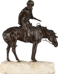 Bronze:European, A FRENCH EQUESTRIAN BRONZE ON MARBLE BASE . Marks: René,Paris. 17-3/4 inches high (45.1 cm). ...