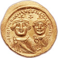 Ancients:Byzantine, Ancients: Heraclius (AD 610-641), with Heraclius Constantine (AD 613-641). AV solidus (22mm, 4.43 gm, 6h). ...