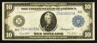 Fr. 915A $10 1914 Federal Reserve Note Fine-Very Fine
