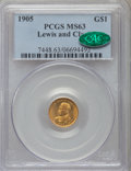 Commemorative Gold, 1905 G$1 Lewis and Clark MS63 PCGS. CAC....