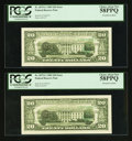 Error Notes:Third Printing on Reverse, Fr. 2075-L $20 1985 Federal Reserve Notes. Two Examples. PCGS Choice About New 58PPQ.. ... (Total: 2 notes)