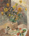 Fine Art - Painting, European:Modern  (1900 1949)  , FRENCH SCHOOL (20th Century). Summer Flowers and Vegetables,1937. Oil on canvas. 39-1/2 x 32 inches (100.3 x 81.3 cm). ...