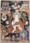 Asian:Other, A THANGKA PANEL. 35-1/4 inches high x 25 inches wide (89.5 x 63.5cm). ...