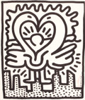 Fine Art - Work on Paper:Print, KEITH HARING (American, 1958-1990). Untitled No. 243 (posterfor Kutztown Connection benefit concert), 1984. Lithograph...