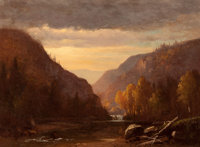 BENJAMIN CHAMPNEY (American, 1817-1907) New Hampshire Autumn Oil on canvas 11 x 15 inches (27.9 x