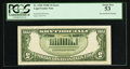 Error Notes:Inverted Reverses, Fr. 1530 $5 1928E Inverted Reverse Legal Tender Note. PCGS AboutNew 53.. ...