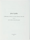 Books:Reference & Bibliography, [Bibliography] [Signed by John Updike]. Jack De Bellis and MichaelBroomfield. LIMITED. John Updike. A Bibliography of P...