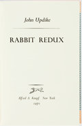 Books:Literature 1900-up, John Updike. SIGNED/LIMITED. Rabbit Redux. New York: Knopf, 1971. First edition, limited to 350 copies. Signed by ...