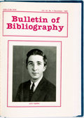 Books:Reference & Bibliography, [John Updike] [Bound Periodical]. Bulletin of Bibliography.Four issues from 1985. One features an article about Joh...