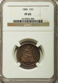 Proof Seated Quarters, 1886 25C PR65 NGC. Briggs 2-B....