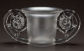 Art Glass:Lalique, R. LALIQUE CLEAR AND FROSTED GLASS PIERREFONDS VASE. Circa1926. Stenciled R. LALIQUE, FRANCE. M p. 436, No. 9...