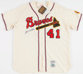 Baseball Collectibles:Uniforms, Eddie Mathews Signed Milwaukee Braves Jersey....