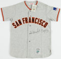 Baseball Collectibles:Uniforms, Willie McCovey Signed San Francisco Giants Jersey....
