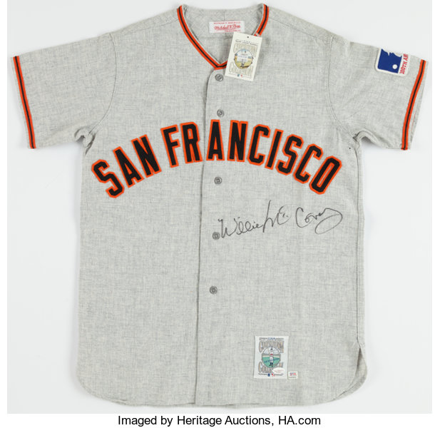 official photos 46112 cd486 Willie McCovey Signed San Francisco Giants Jersey ...