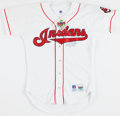 "Baseball Collectibles:Uniforms, Bob Feller ""H.O.F. 62"" Signed Cleveland Indians Jersey...."