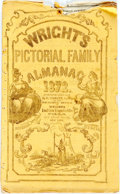Books:Americana & American History, [Almanac]. Wright's Pictorial Family Almanac. New York: E.Ferrett, 1872. Octavo. 24 pages. Illustrated wrappers. Op...