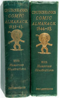 Books:Americana & American History, [Almanac]. George Cruikshank, illustrator. The Comic Almanack1835-1843 and 1844-1853. London: John Camd... (Total: 2Items)