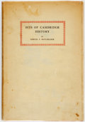 Books:Americana & American History, Samuel F. Batchelder. Bits of Cambridge History. Cambridge:Harvard University, 1930. First edition. Publisher's clo...
