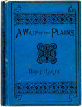 Books:Literature Pre-1900, Bret Harte. A Waif of the Plains. Houghton Mifflin, 1892.Twelvemo. Original cloth binding. Scuffing to binding. Rub...
