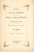 Books:Americana & American History, [Slave Trade]. Report of Naval Committee on Establishing a Lineof Mail Steamships to the Western Coast of Africa......