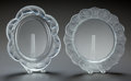 Art Glass:Lalique, TWO LALIQUE CLEAR AND FROSTED GLASS PLATES,. Post 1945, Engraved:Lalique, France. 10-3/4 inches diameter (27.3 cm) (lil...(Total: 2 Items)