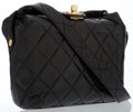 Luxury Accessories:Bags, Chanel Black Quilted Lambskin Leather Shoulder Bag with GoldHardware. ...