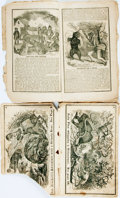 Books:Americana & American History, [Almanac]. Two Incomplete Almanacs. 1839, 1841. Lacking wrappers.Soiled and tattered. One with sloppily hand-colored illust...
