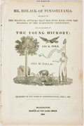 Books:Americana & American History, [James K. Polk]. [Benjamin Alden Bidlack]. Speech of Mr.Bidlack, of Pennsylvania...Washington, 1844. Disbound. 13 p...
