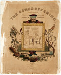 Books:Americana & American History, [Cartoons, Americana]. The Comus Offering, Containing HumorousScraps and Diverting Comicalities. Boston: B. Frankli...
