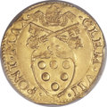 Italy:Papal States, Italy: Papal States. Clement VII gold Scudo ND (1523-34) AU58PCGS,...