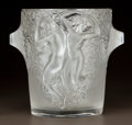 Art Glass:Lalique, LALIQUE CLEAR AND FROSTED GLASS GANYMEDE WINE COOLER. Post1945. Engraved Lalique, France. Ht. 9 in.. ...