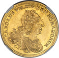 German States:Frankfurt, German States: Frankfurt. Free City - Karl VII gold Coronation 2Ducat 1742-EK MS61 NGC,...