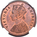 India:British India, India: British India. Victoria Proof 1/4 Anna 1897-(c) PR64 Red and Brown NGC,...