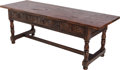 Furniture , AN ITALIAN RENAISSANCE-STYLE WALNUT REFECTORY TABLE, 19th century. 29 x 82 x 28 inches (73.7 x 208.3 x 71.1 cm). ...
