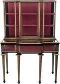 Furniture : French, A LOUIS PHILLIPE EBONIZED WOOD AND GILT BRONZE COLLECTOR'S CABINET,19th century. 60 x 42 x 22 inches (152.4 x 106.7 x 55.9 ... (Total:2 Items)