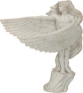 Paintings, AN ITALIAN ART DECO CARRERA MARBLE FIGURE, early 20th century. 21 x 24 x 7 inches (53.3 x 61.0 x 17.8 cm). ...