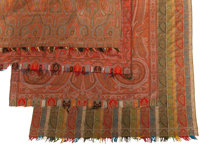 FOUR INDIAN PAISLEY SHAWLS, 19th century 64 inches long x 56 inches wide (162.6 x 142.2 cm)