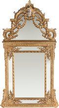 Decorative Arts, Continental:Other , A PAIR OF RÉGENCE-STYLE GILT WOOD WALL MIRRORS, 20th century. 88 x46 x 4 inches (223.5 x 116.8 x 10.2 cm). ... (Total: 2 Items)