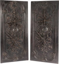 Decorative Arts, French:Other , A PAIR OF LOUIS XVI-STYLE CARVED WOOD DOOR PANELS, 20th century.85-1/2 x 38-1/4 x 2-3/4 inches (217.2 x 97.2 x 7.0 cm). ... (Total:2 Items)